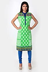 SPAN Girls Cotton BLUE Kurta (Medium)