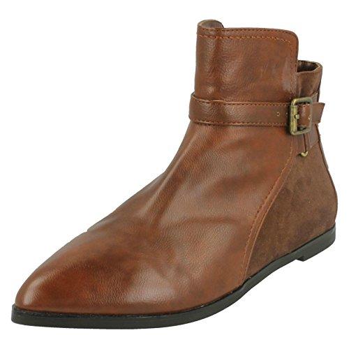Spot On da donna, alla caviglia, plateau interno e punta arrotondata, Marrone (marrone), 36.5