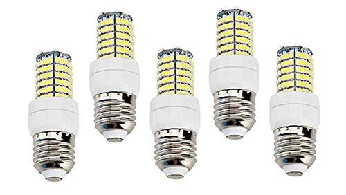 How Nice Corn Bulb 5W E27 144X3528Smd 400-450Lm 3000-3500K Warm White Light Led (110-240V) -Pack Of 5