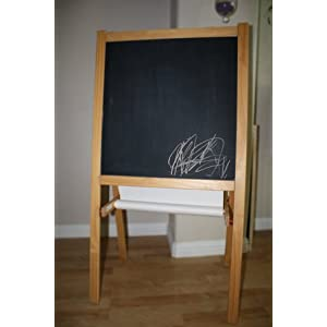 IKEA CHILDREN'S BLACKBOARD & WHITEBOARD, TWO SIDED EASEL WITH PAPER ROLL SUPPORT