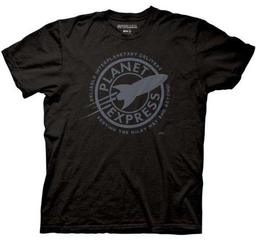 Futurama Faded Planet Express Black T-Shirt