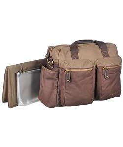 eddie bauer aubrey canvas satchel diaper bag. Black Bedroom Furniture Sets. Home Design Ideas