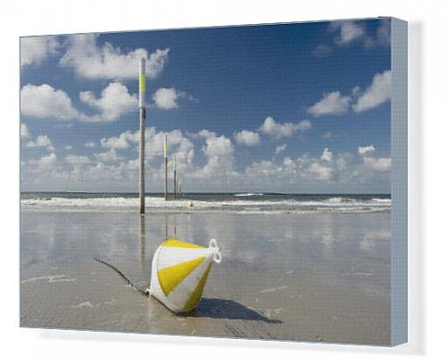 canvas-print-of-beach-marker-posts-and-a-buoy-st-peter-ording-schleswig-holstein-germany