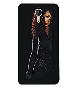 PrintDhaba Strong Girl D-5397 Back Case Cover for LETV (LE ECO) LE 1 PRO (Multi-Coloured)