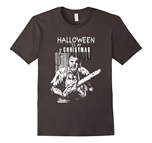 Men's Halloween Is My Christmas Funny Chainsaw T-Shirt Large Asphalt (Saw Costume Ideas)