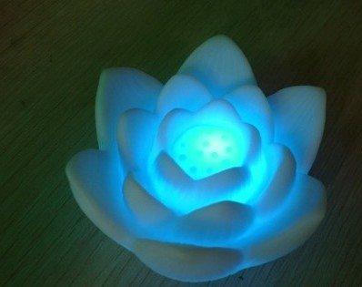 Coffled®1Pcs 7-Color Party Wedding Led Lotus Nightlight Christmas Decor Lamp Gift Kid Toy