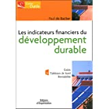 Les indicateurs financiers du d�veloppement durablepar Paul De Backer