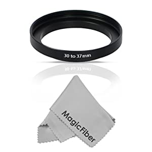 Goja 30-37mm Step-Up Adapter Ring (30mm Lens to 37mm Accessory) + Bonus Ultra Fine Microfiber Lens Cleaning Cloth