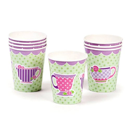 Girly Tea Party Cups (8 pc)