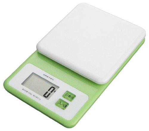 DRETEC デジタルスケール 「ホイップ」 1kg グリーン KS-147GN