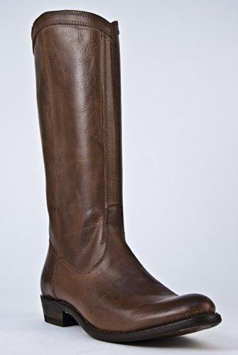 Frye Rider Pull-On Low Heel Boot - Dark Brown