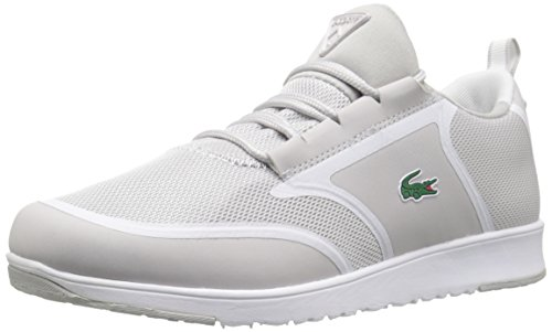 Lacoste Women's L.IGHT 116 1 Fashion Sneaker, Light Grey/White, 8 M US