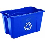 Rubbermaid Comm. FG571873BLUE Rubbermaid 18 Gallon Recycle Box