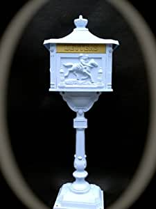 Amazon Com Victorian Cast Aluminum Pedestal Mailbox