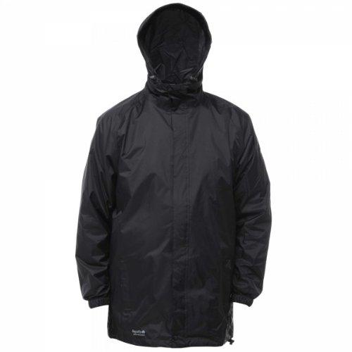 Regatta RG018 Polyester Fabric Men's Packaway ll Waterproof Jacket, Medium, Black