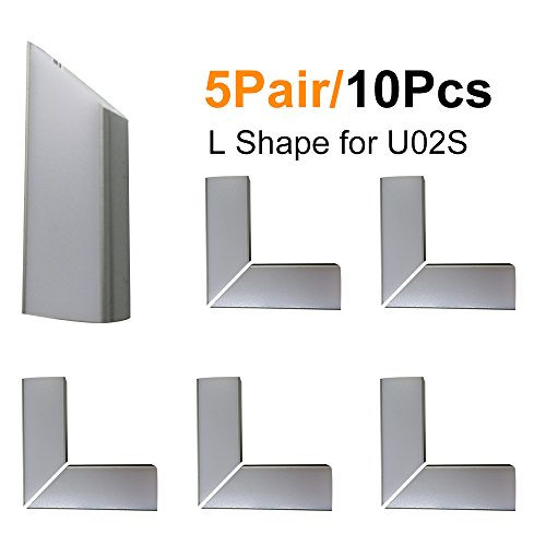 LightingWill 5Pair/10Pcs Silver Spliced L-shape LED Aluminum Channel Corner Adapter for U02S Solution for 90 Angle Turning Corner Cabinet Bar Kitchen Wardrobe Installation -U02SL10 (Turning Kitchen Cabinet compare prices)