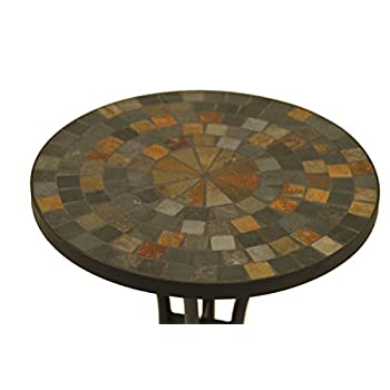 Outdoor Interiors LLC 31625 Mosaic Side Table, 18-Inch