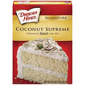 Duncan Hines Cake Mix Coconut Supreme - 18.25 oz (6 Pack)