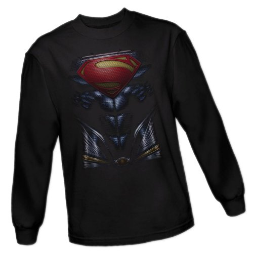 Superman Costume -- Man of Steel Movie Adult Long-Sleeve T-Shirt