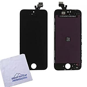 GROUP VERTICAL® New Black iPhone 5 Touch Screen Digitizer + LCD Replacement Part - Complete Assembly FULLY TESTED