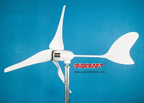 Gudcraft Wg600 600 Watt 12 Volt 3 Blade Residential Wind Turbine Generator Kit With Free Charge Controller