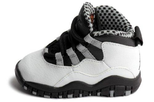 best loved debbf ae01b Jordan Toddler Retro 10 WhiteBlackLight Steel GreyVarsity ...