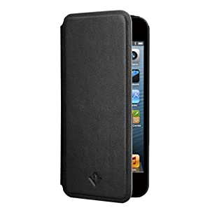 Twelve South SurfacePad for iPhone 5/5s, black | Ultra-slim luxury leather cover + display stand