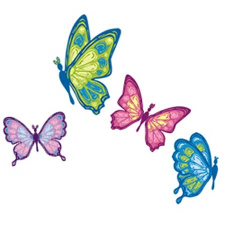 Cute flowers wallpapers cute flowers acrylic paintings for Butterfly mural wallpaper