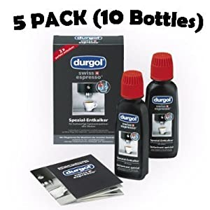 Durgol Swiss Espresso Decalcifier for Espresso and Coffee Machines 5 Pack (10 Bottles) from Durgol