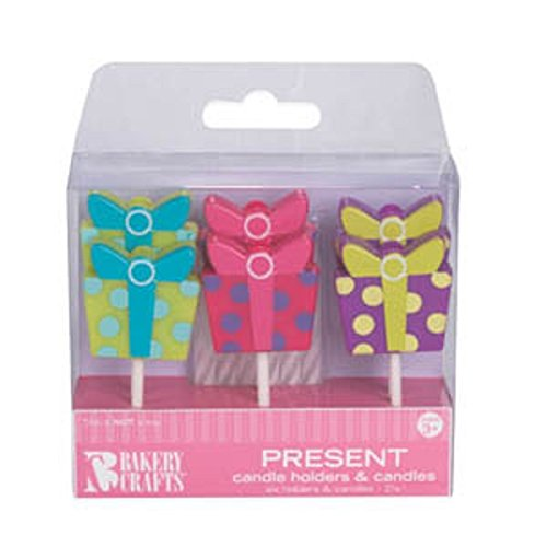 Oasis Supply Gift Box Candle Holders with Birthday Candles - 1