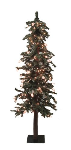 3 5 39 Pre Lit Frosted Alpine Artificial Christmas Tree Clear Lights Ch
