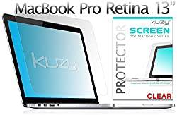 Kuzy Clear Screen Protector Film for Macbook Pro 13 with Retina for Models A1502 and A1425