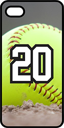 iPhone 5c Case Softball Dirt Mound Any Custom Jersey Number 20 Black Rubber (Iphone 5c Case Softball Pitcher compare prices)