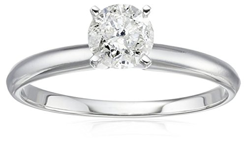14k Gold Round Solitaire Diamond Engagement Ring (3/4 cttw, H-I Color ...