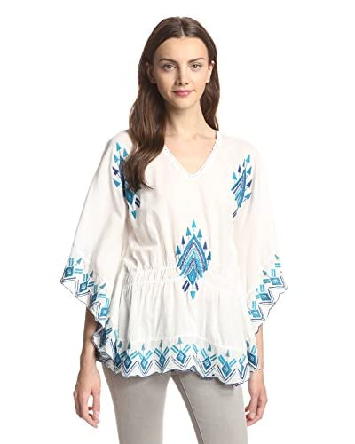 Raga Women's Butterfly Sleeve Tribal Top
