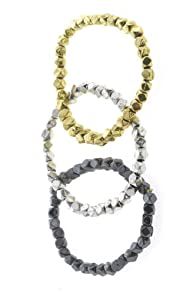 World Finds Fair Trade Metallic Stretch Bracelet 3-pack
