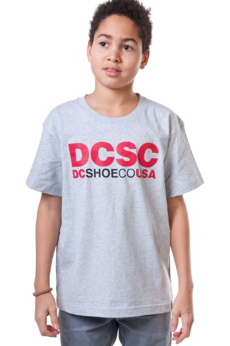 DC Shoes Screenline - Maglietta da uomo a maniche corte, Ragazzo, Screenline T-Shirt DCSC Short Sleeve, grigio, XL