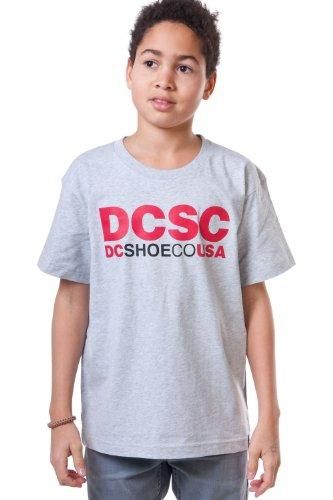 DC Shoes Screenline-Maglietta da uomo a maniche corte, Ragazzo, Screenline T-Shirt DCSC Short Sleeve, grigio, XL