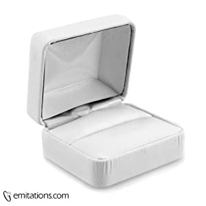 Wedding Ring Gift Box : Wedding Ring Set Jewelry Gift Box: Modern Collection - White: Ring Box ...