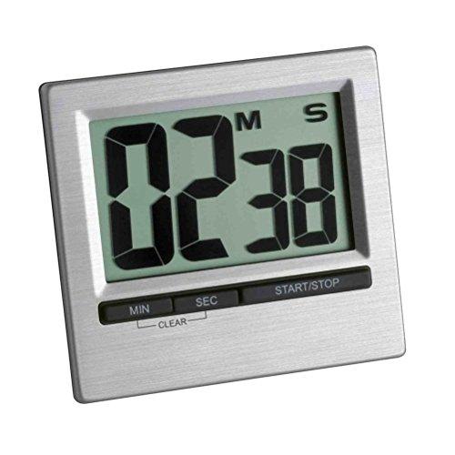 Timer Digitale Cromato LCD Facile Da Leggere