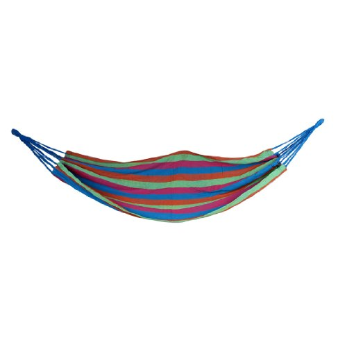 Camping Purple Green Blue Canvas Hammock Sleeping Bed 190Cm X 84Cm front-978543