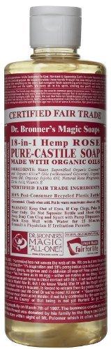 Dr. Bronner'S Magic Soap, 18-In-1 Hemp Rose Pure Castile Soap, 16 Oz Color: Rose Size: 16 Oz. Newborn, Kid, Child, Childern, Infant, Baby