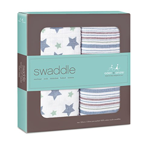 aden + anais Classic Muslin Swaddle Blanket 2 Pack - 1