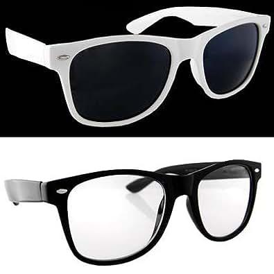 Lot 2 Black Clear Lens and White Dark Lens