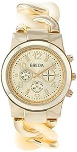 Breda Women's 2331-Horn Locklin Horn and Gold Circular Links Watch