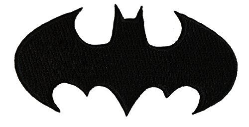 Application Batman Die-Cut Black Logo Patch