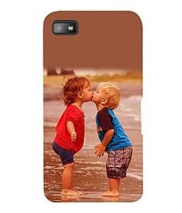 printtech Baby Kiss Love Back Case Cover for Blackberry Z10