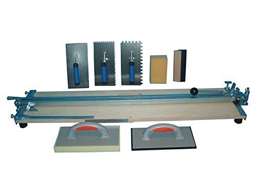 Profi-Fliesenschneider-1000-mm-Schnittlnge-und-Fliesenlegerwerkzeuge-Gratis-Winkel-und-Rhrer-fr-Fliesenkleber