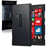 NOKIA LUMIA 920 HYBRID RUBBERISED BACK COVER CASE - SOLID BLACK