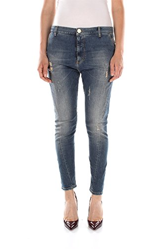 Jeans Pinko Donna Cotone Blu Denim 1J100EY1AUG68 Blu 31
